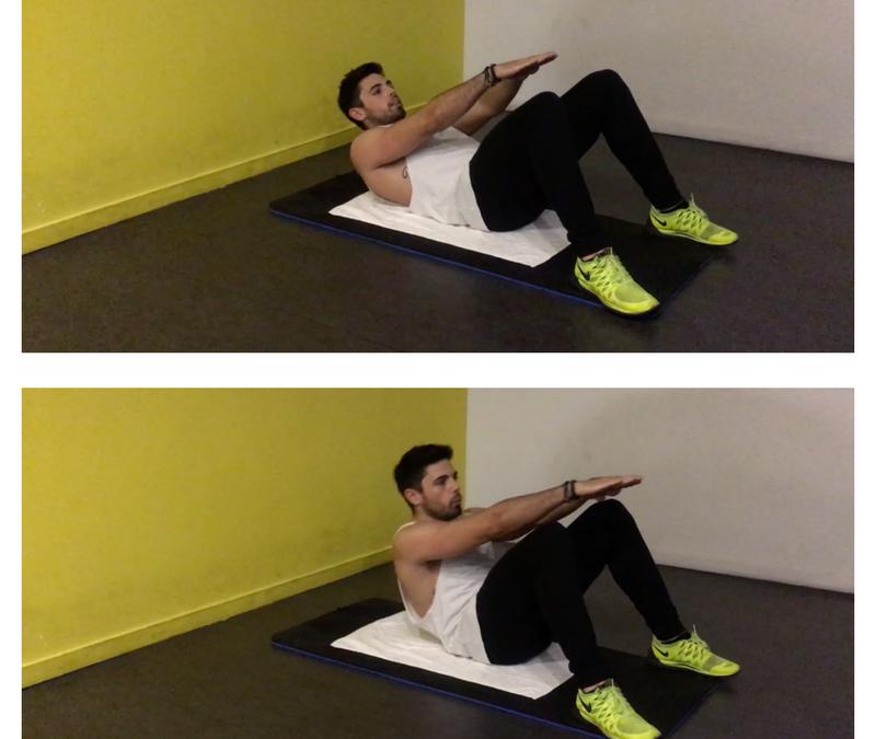Exercice musculation: Relevé de buste bras tendus