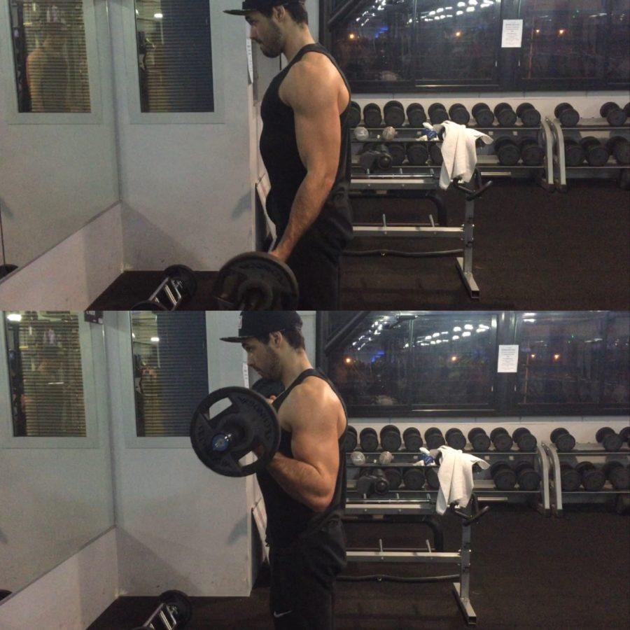 exercice programme split- curl barre droite