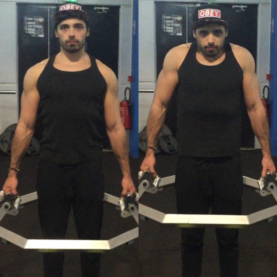 exercice programme split- shrug